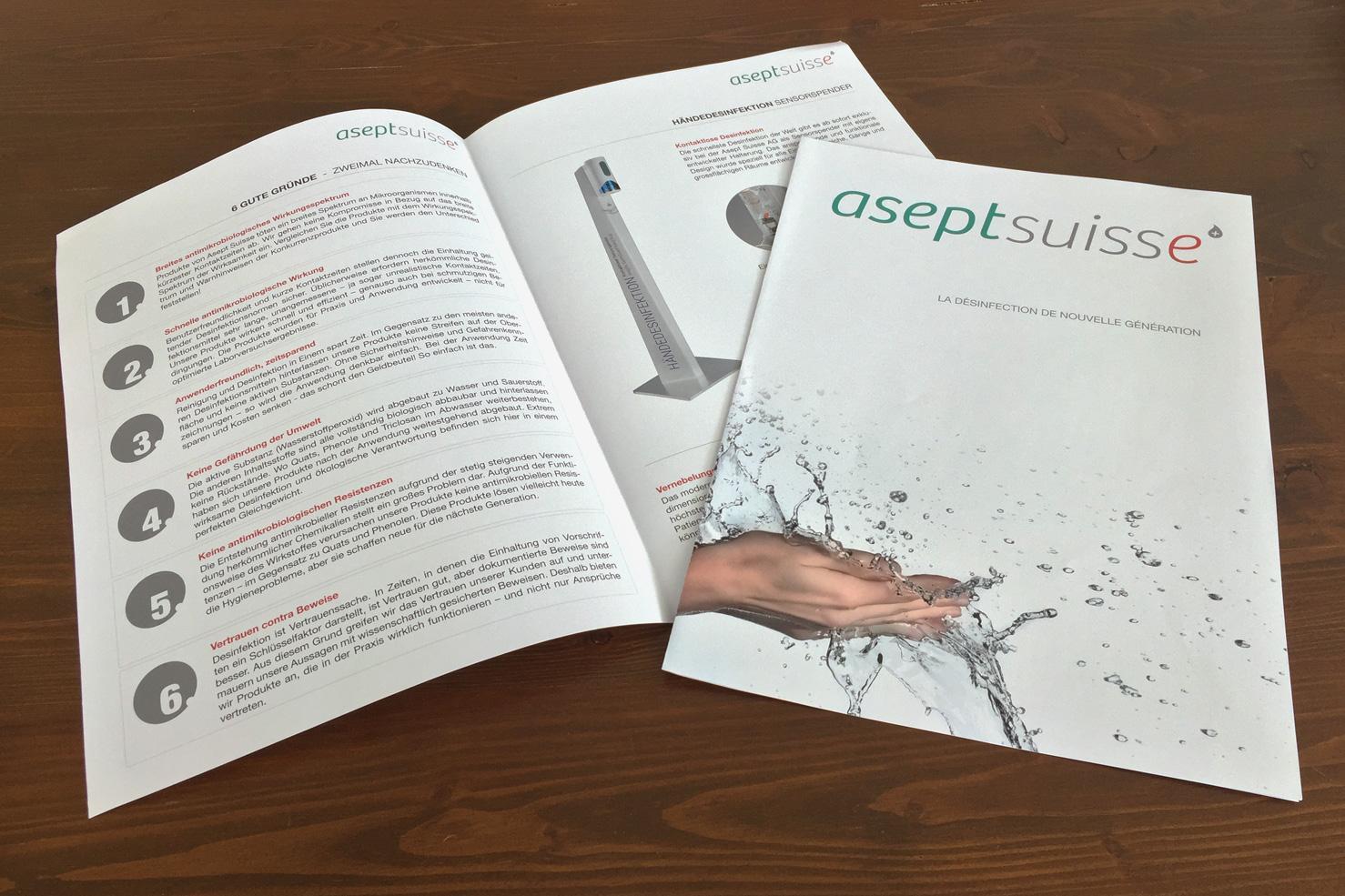 Bild 1 vom Asept Suisse AG Grafikdesign