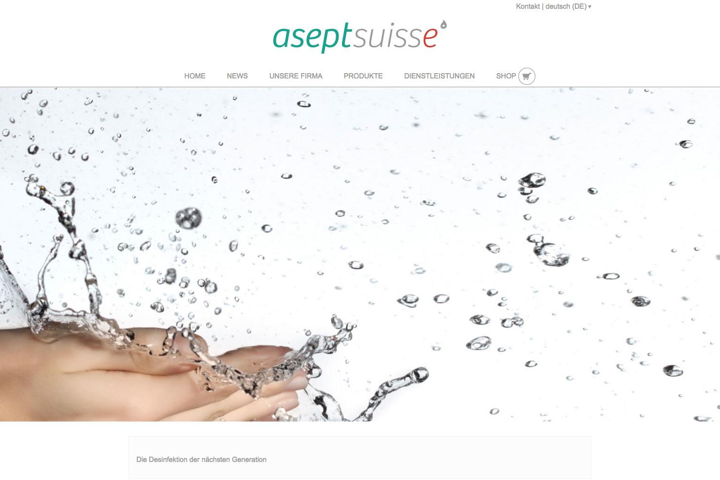 Bild 1 vom AseptSuisse Webseite