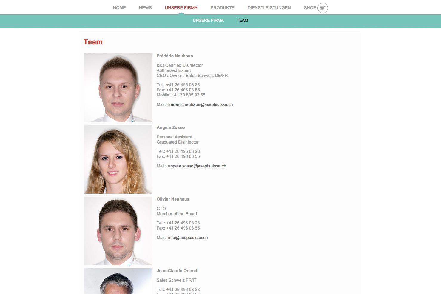 Bild 3 vom AseptSuisse Webseite