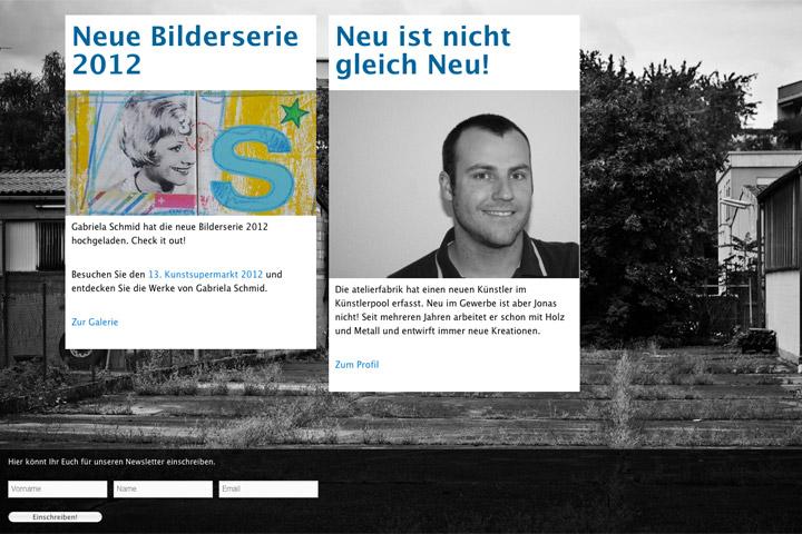 Bild 2 vom Atelierfabrik Webseite