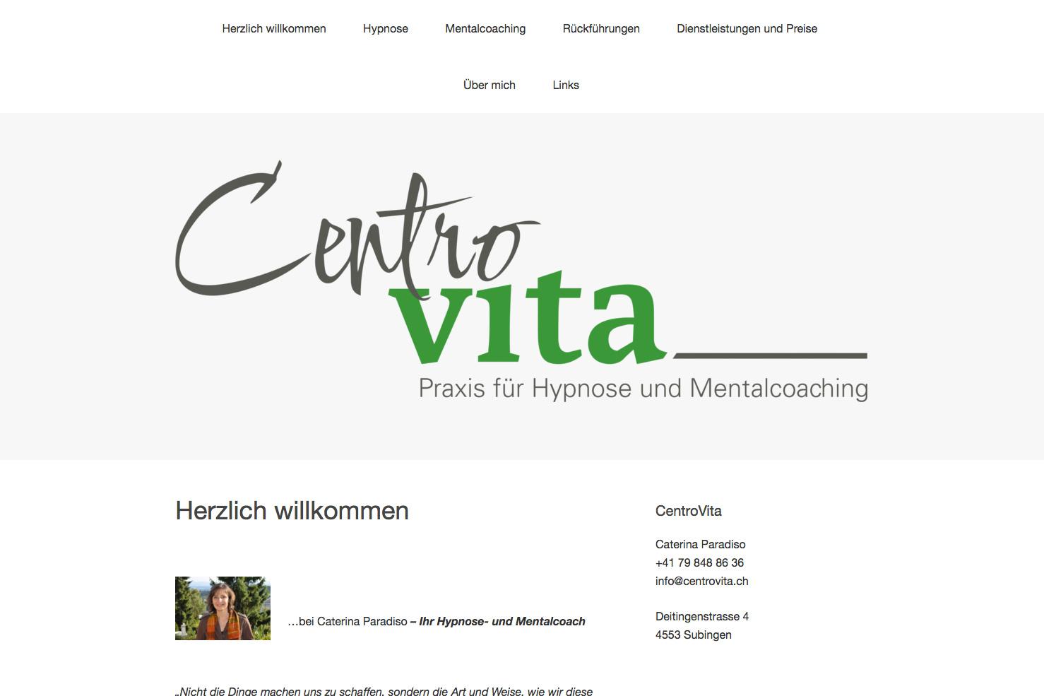 Bild 1 vom CentroVita Webseite