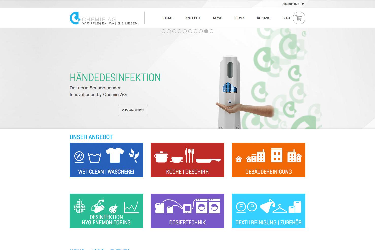 Bild 1 vom Chemie AG Webseite / Shop