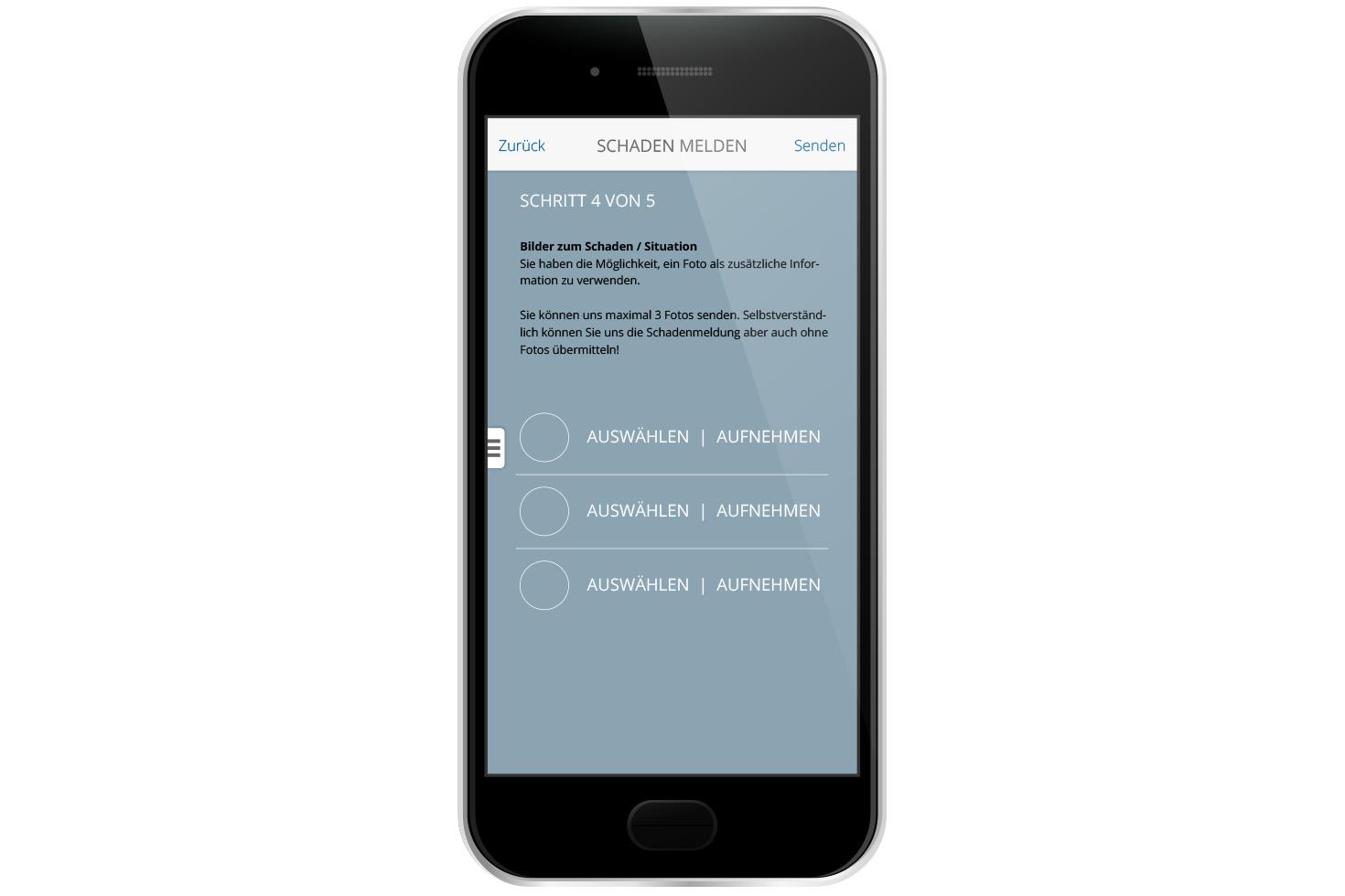 Bild 4 vom KMU Versicherungsberatung Mobile App
