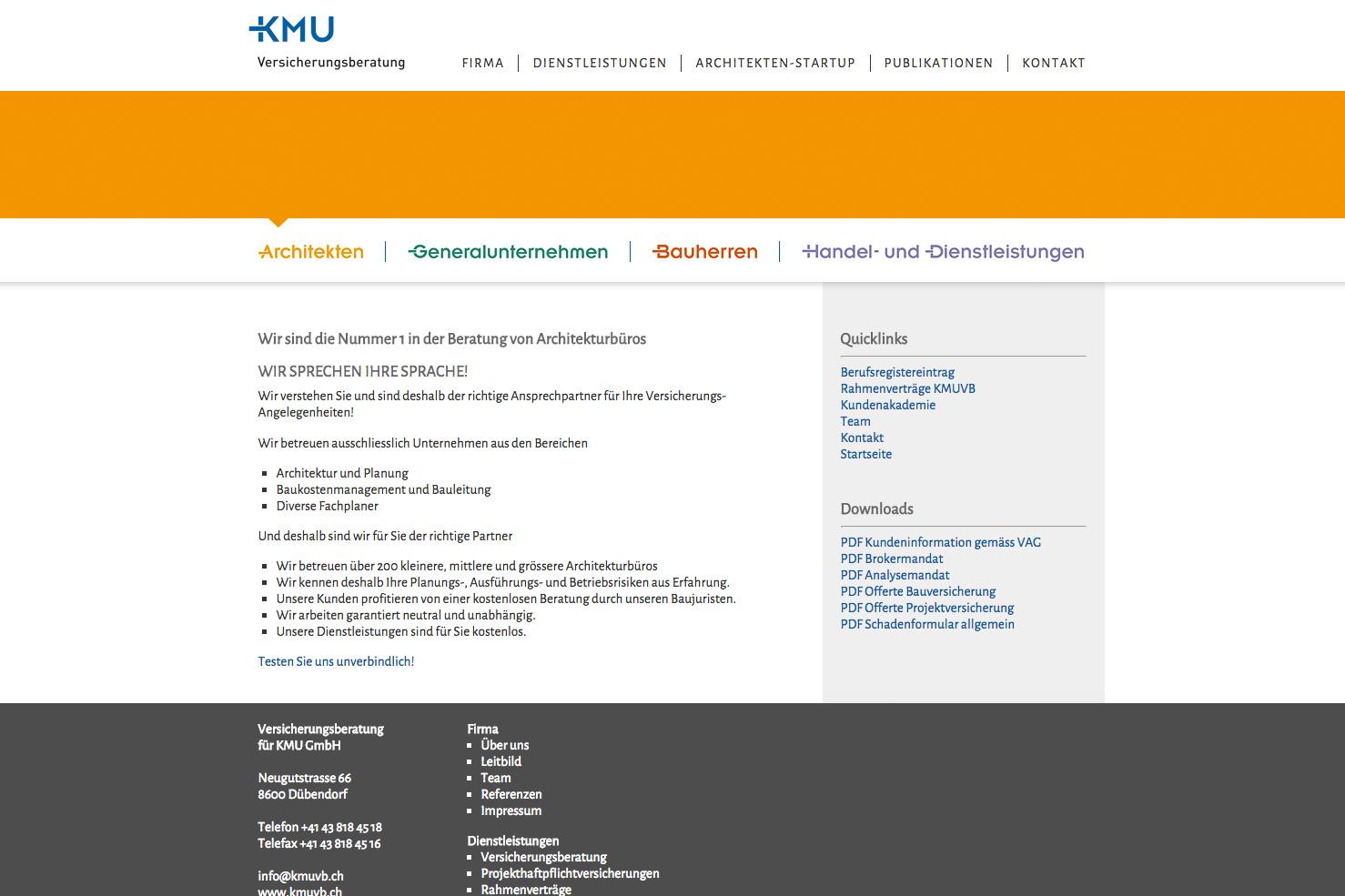Bild 3 vom KMU Versicherungsberatung Webseite