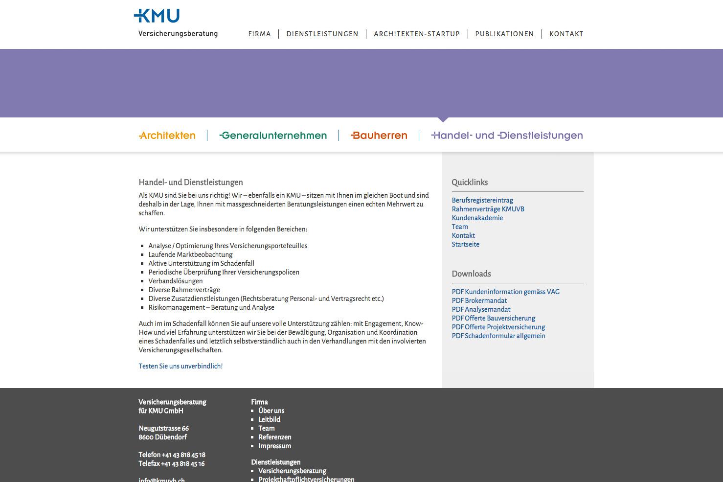 Bild 4 vom KMU Versicherungsberatung Webseite