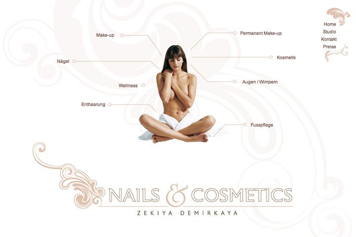 Bild 2 vom Nails & Cosmetics Webseite