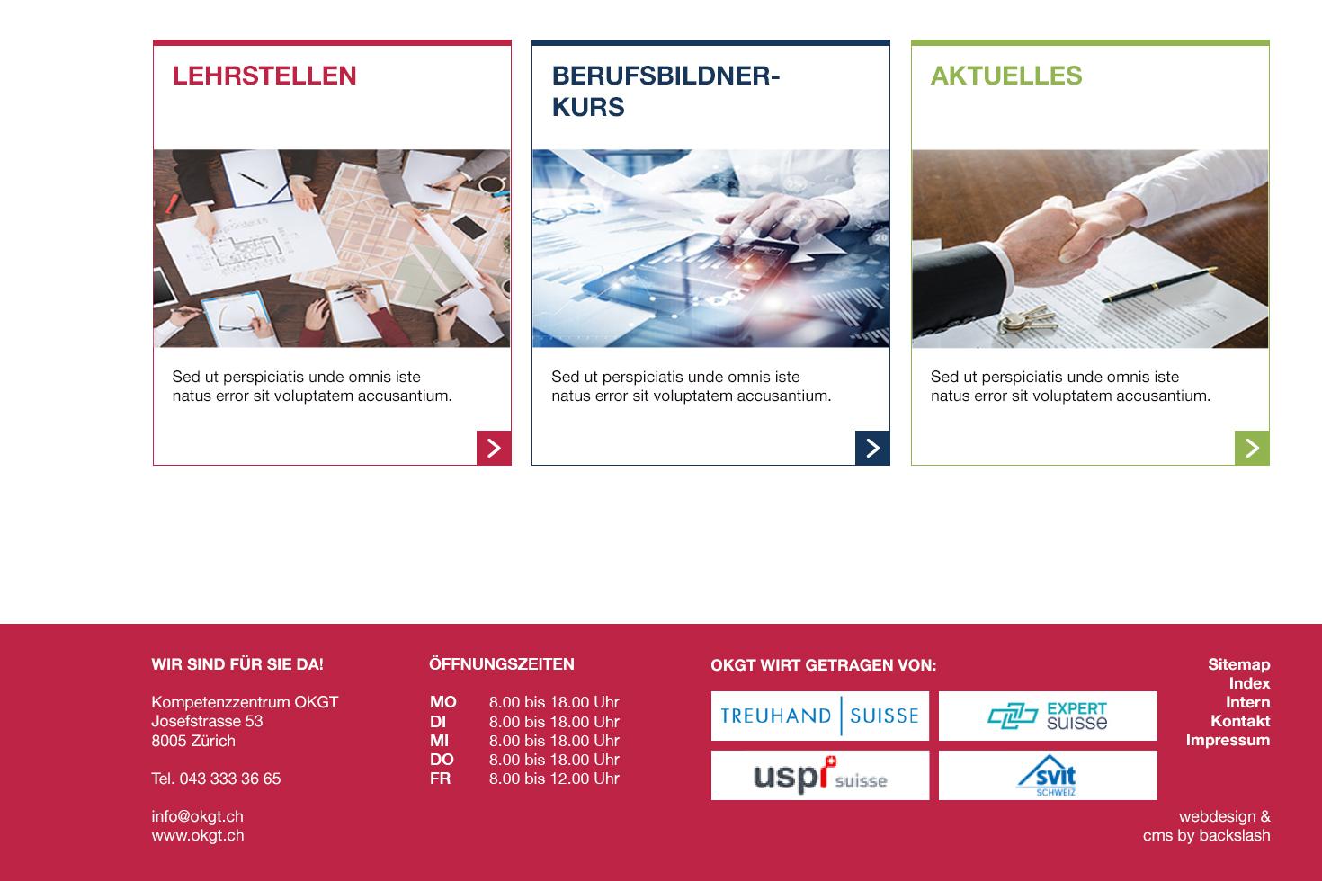 Bild 4 vom Screendesign für Webseiten