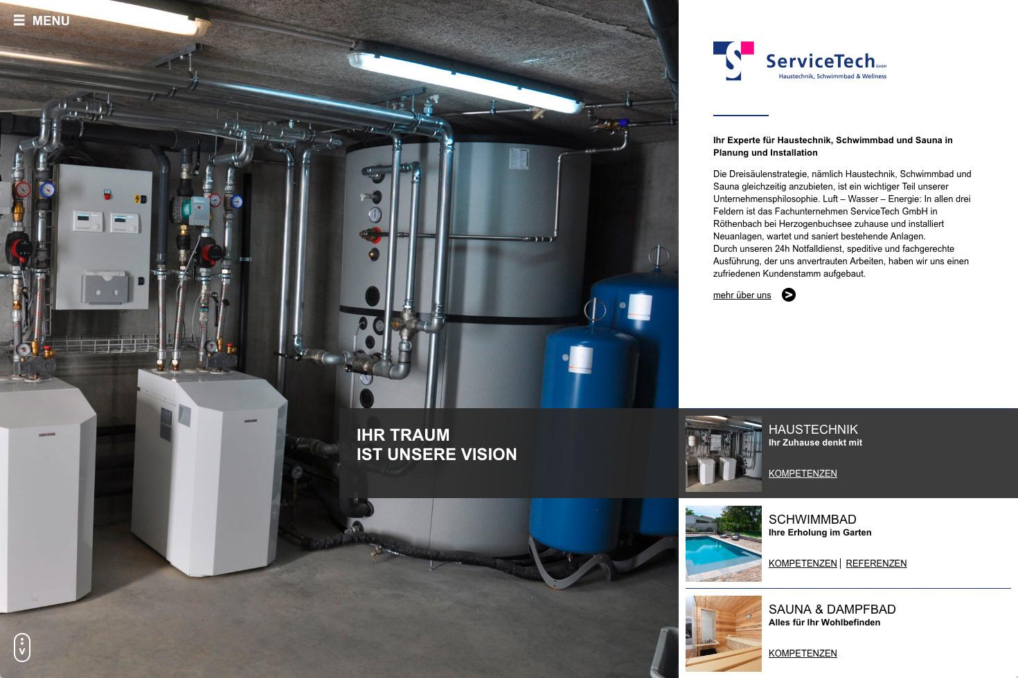 Bild 1 vom ServiceTech Webseite
