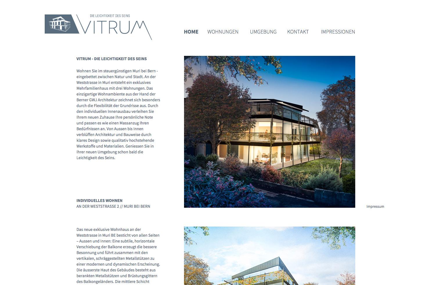 Bild 1 vom Vitrum Webseite